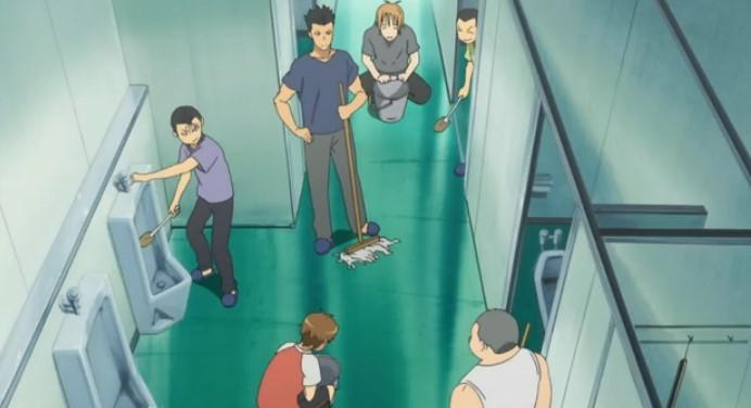 罰のトイレ掃除