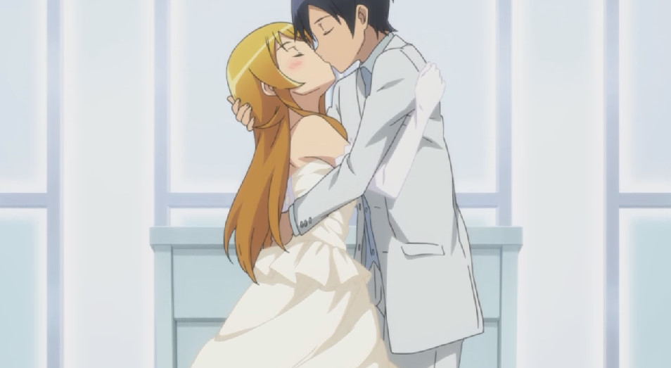 高坂 桐乃と京介のキス