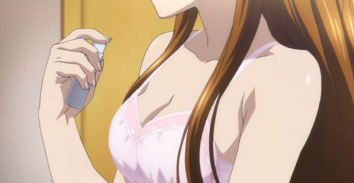 小木曽 雪菜(おぎそ せつな)ピンクのブラ