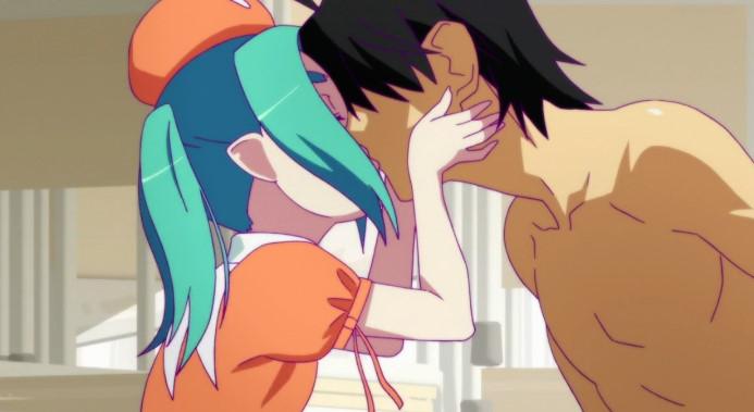 斧乃木 余接(おののき よつぎ)とキス