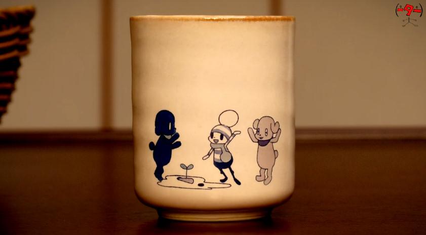 湯呑みストップモーションアニメ