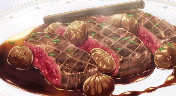 鹿もも肉の炭火焼き〜栗のソース〜