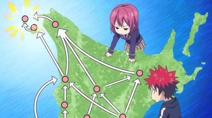 食戟のソーマ 餐ノ皿 遠月列車篇 第14話『薙切えりなの恋!』感想